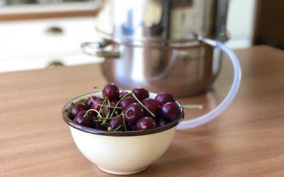 Sok wiśniowy z sokownika parowego